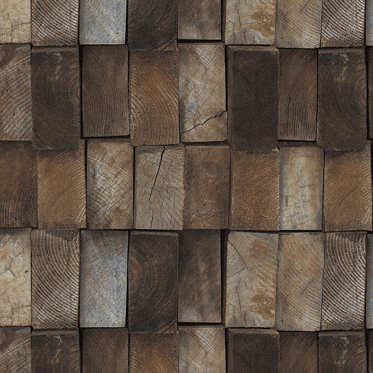Papel Tapiz Tipo Madera By Muro Homify