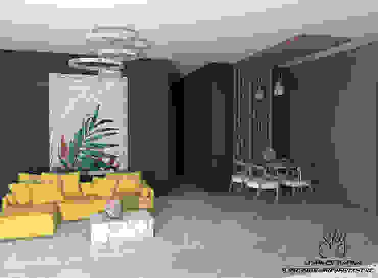 Mediterranean style living room by SKY İç Mimarlık & Mimarlık Tasarım Stüdyosu Mediterranean