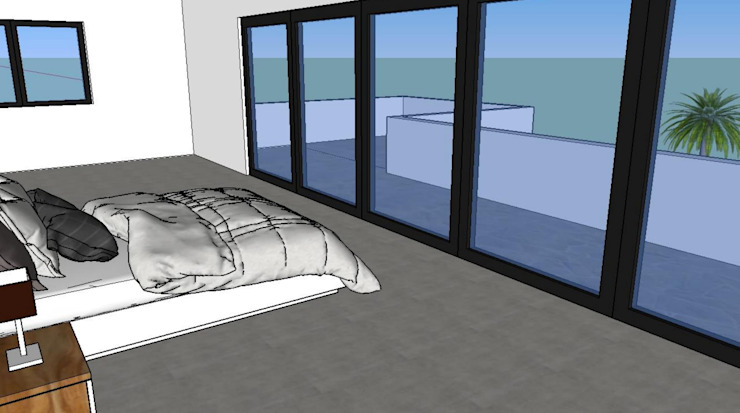 Modern Yatak Odası Construcciones del Carmen Modern