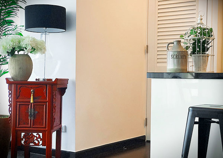 Sleek and Modern with Asian Style – Trump Tower Makati, Philippines by SNS Lush Designs and Home Decor Consultancy Asian