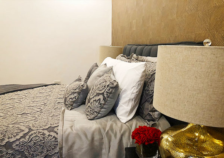 Sleek and Modern with Asian Style – Trump Tower Makati, Philippines Asian style bedroom by SNS Lush Designs and Home Decor Consultancy Asian