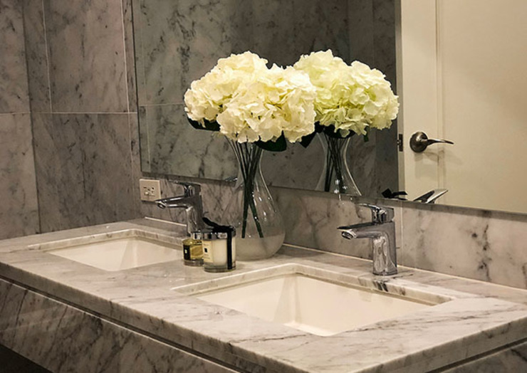 Sleek and Modern with Asian Style – Trump Tower Makati, Philippines SNS Lush Designs and Home Decor Consultancy Asian style bathroom