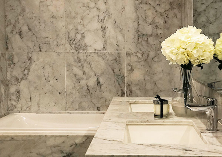 Sleek and Modern with Asian Style – Trump Tower Makati, Philippines Asian style bathroom by SNS Lush Designs and Home Decor Consultancy Asian