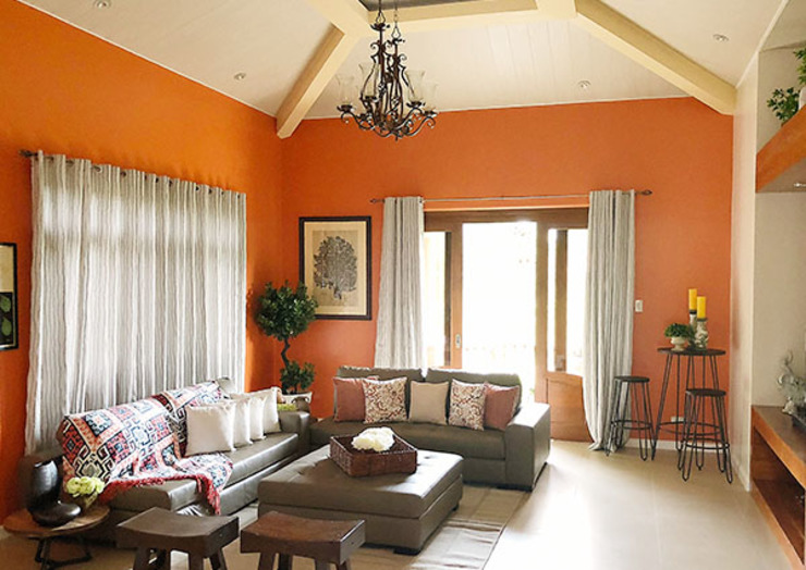 Fabulous Vacation House with a Flair – Tagaytay SNS Lush Designs and Home Decor Consultancy Living room