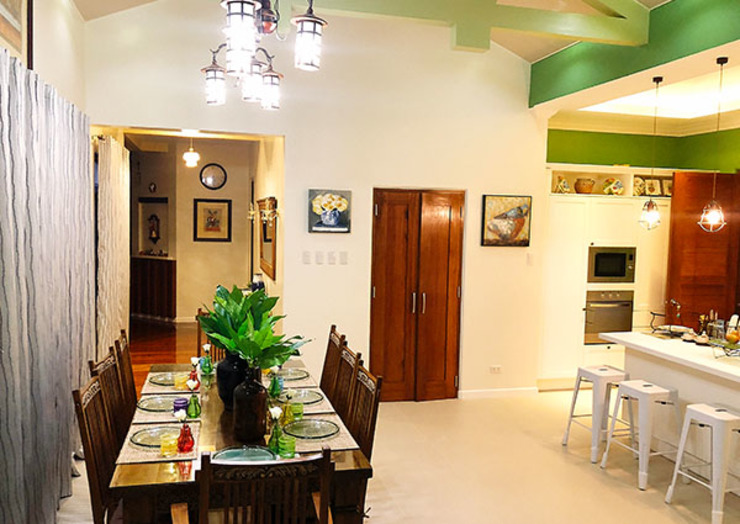 Fabulous Vacation House with a Flair – Tagaytay SNS Lush Designs and Home Decor Consultancy Dining room