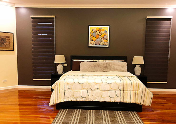 Fabulous Vacation House with a Flair – Tagaytay Mediterranean style bedroom by SNS Lush Designs and Home Decor Consultancy Mediterranean