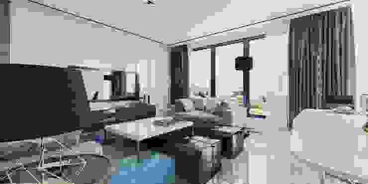 Vista Interior Estar 01: Livings de estilo  por CR.3D Modeling & Rendering,