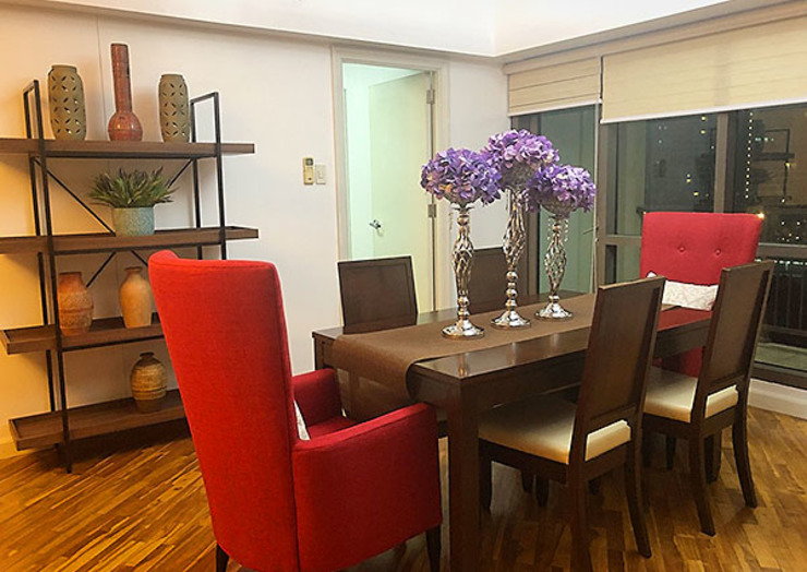 Two Bedrooms Condo at Rockwell Eclectic style dining room by SNS Lush Designs and Home Decor Consultancy Eclectic
