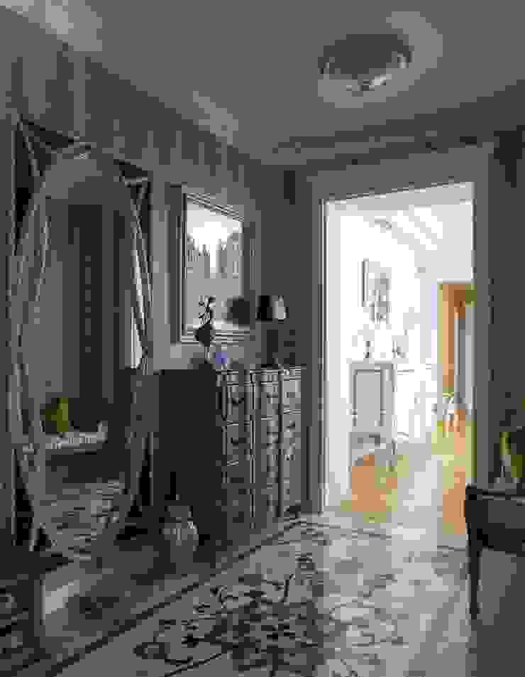 Студия интерьеров Людмилы Пожидаевой 經典風格的走廊,走廊和樓梯