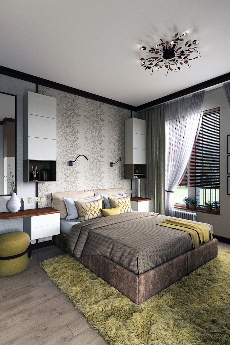 Zibellino.Design Eclectic style bedroom