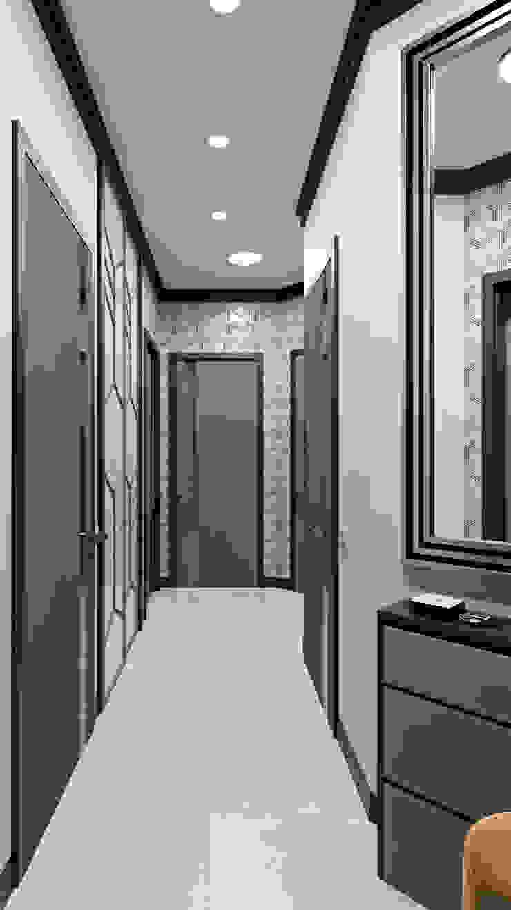 Pasillos, vestíbulos y escaleras de estilo ecléctico de Zibellino.Design Ecléctico