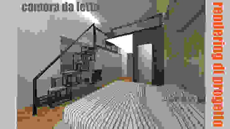 Camera da letto - rendering: Camera da letto in stile  di officinaleonardo, Moderno