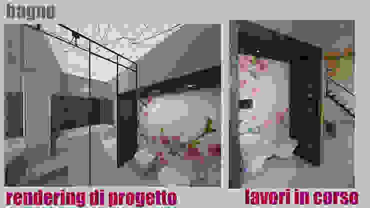 Bagno - render e realizzazione: Bagno in stile  di officinaleonardo, Moderno