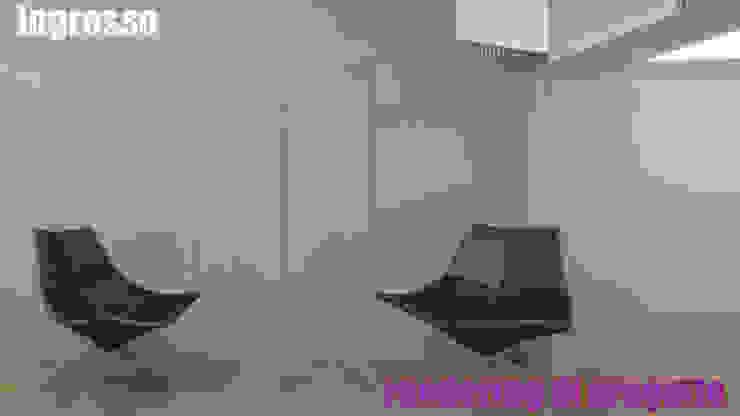 Ingresso - render: Ingresso & Corridoio in stile  di officinaleonardo, Moderno