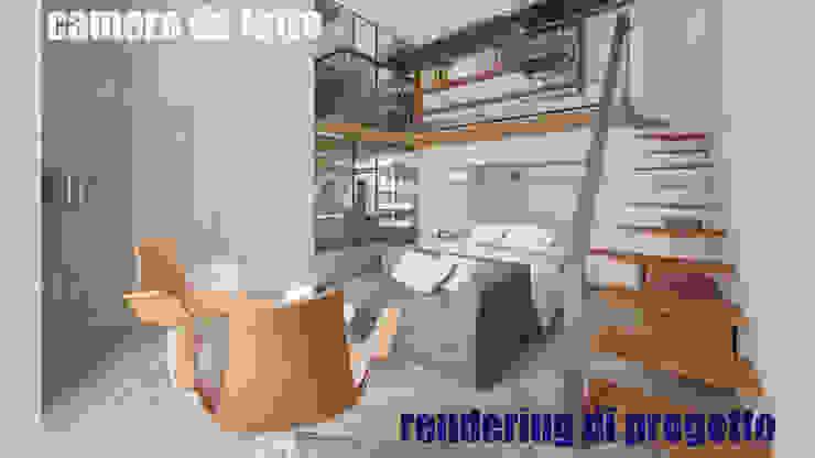 Camera da letto - render: Camera da letto in stile  di officinaleonardo, Moderno