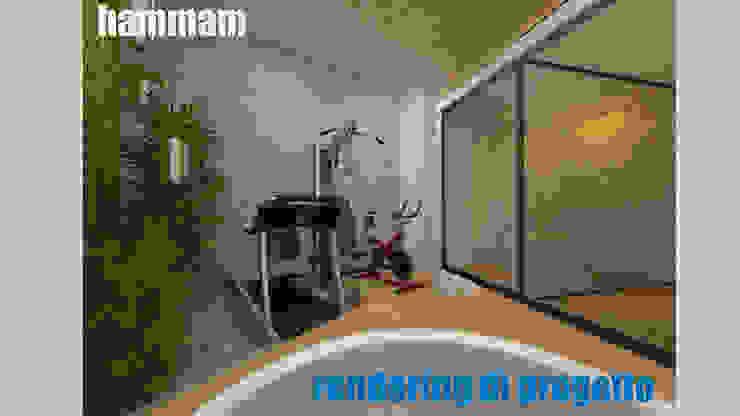 Hammam - render: Spa in stile  di officinaleonardo, Moderno