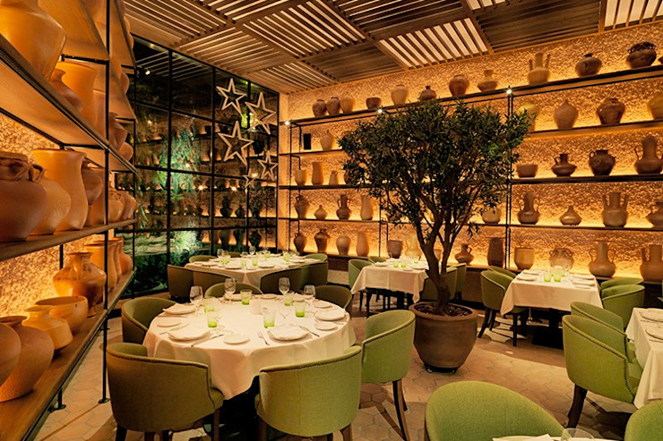 Renovación del mobiliario del Restaurant L'Olivé Gastronomía de estilo mediterráneo de Cubiñá, muebles de diseño en Barcelona Mediterráneo