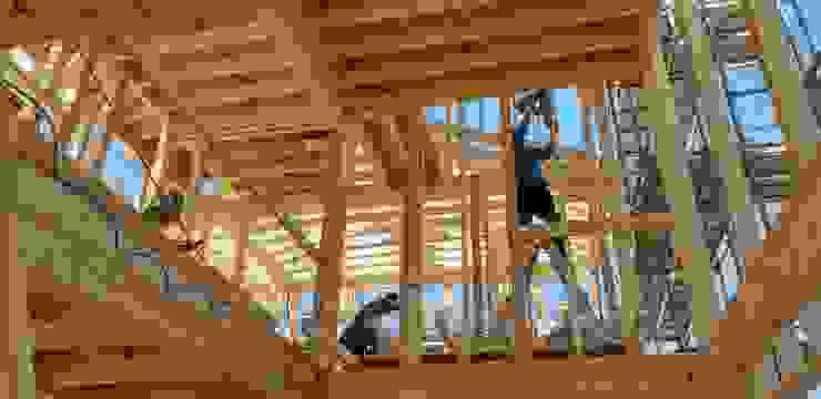 제주 협재리 탐나도가 중목구조 주택 골조시공중 by 중목주택 전문브랜드 탐나도가