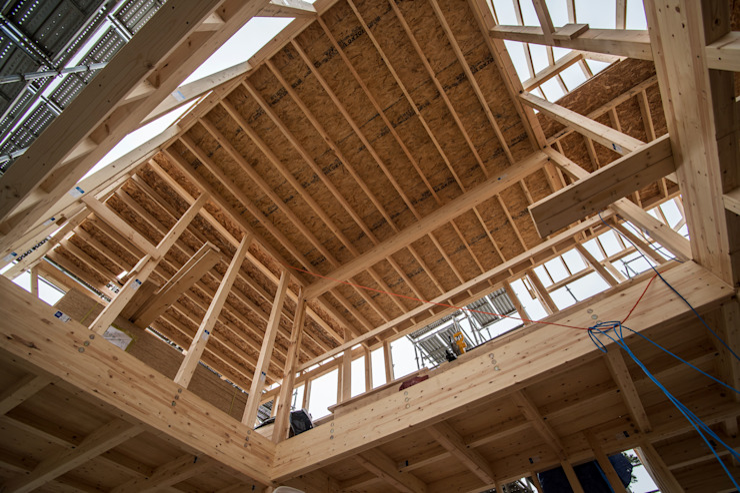 단독전원주택 전문브랜드 탐나도가, 제주 협재리 중목구조 주택 프리컷 철물공법 건축 by 중목주택 전문브랜드 탐나도가