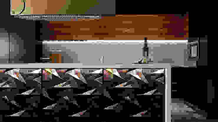 open kitchen:  مطبخ تنفيذ Swan Studio,