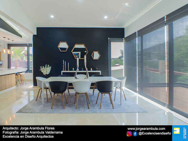 Minimalist dining room by Excelencia en Diseño Minimalist