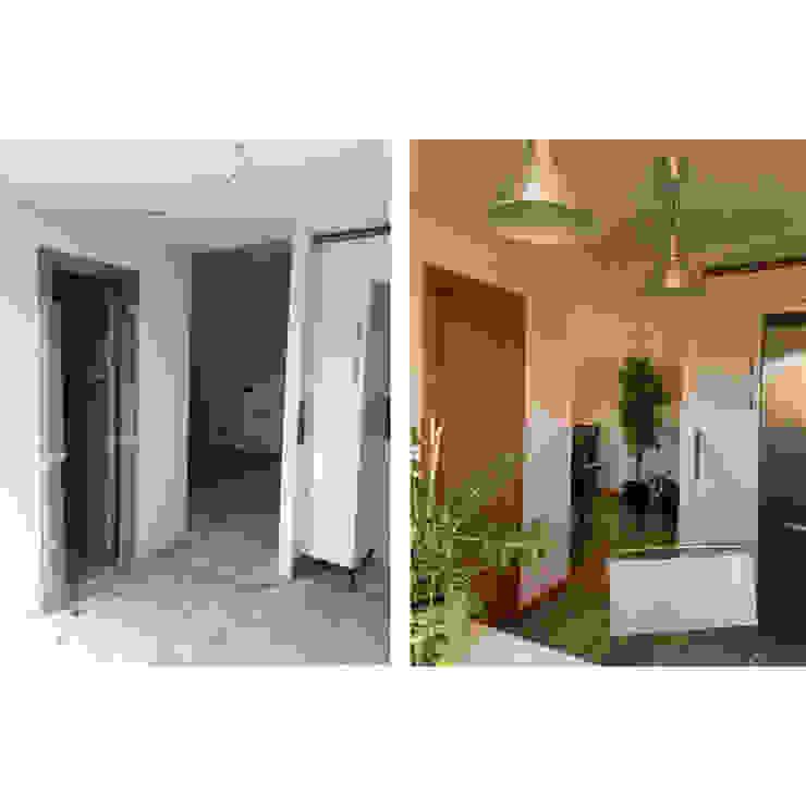 Acondicionamiento de área de cocina de un piso en Alameda, Cuenca - Antes y después de Arte y Vida Arquitectura