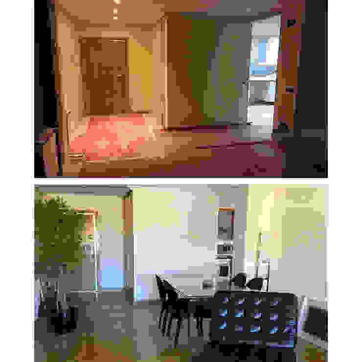 Acondicionamiento de área de estar de un piso en Alameda, Cuenca - Antes y después de Arte y Vida Arquitectura