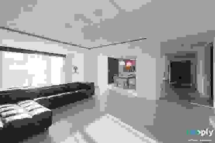 대구인테리어 디자인투플라이의 60평대 아파트 인테리어 모던스타일 거실 by 디자인투플라이 모던