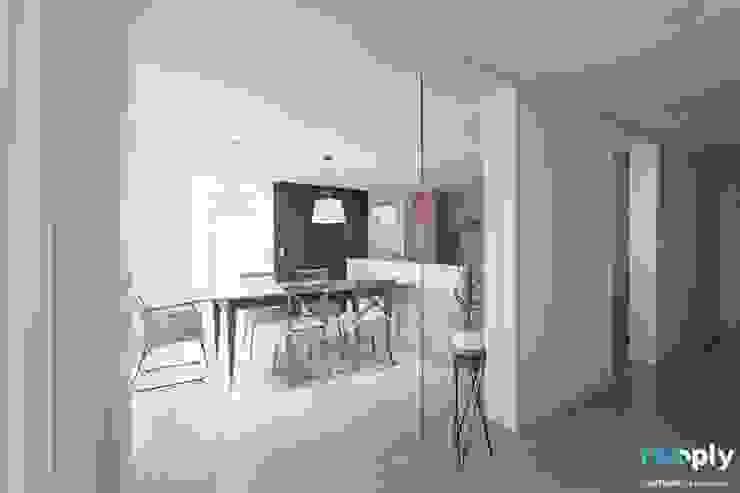 대구인테리어 디자인투플라이의 60평대 아파트 인테리어 모던스타일 다이닝 룸 by 디자인투플라이 모던