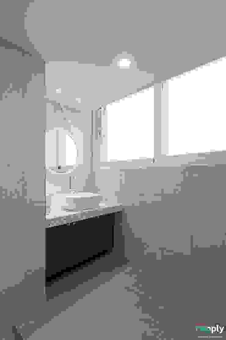 대구인테리어 디자인투플라이의 60평대 아파트 인테리어 모던스타일 욕실 by 디자인투플라이 모던
