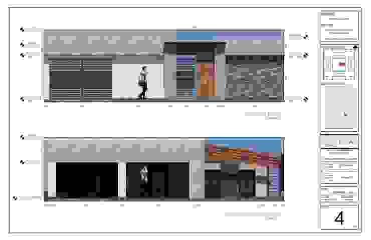Plano 4/5 - Elevaciones.:  de estilo  por PlanArq,