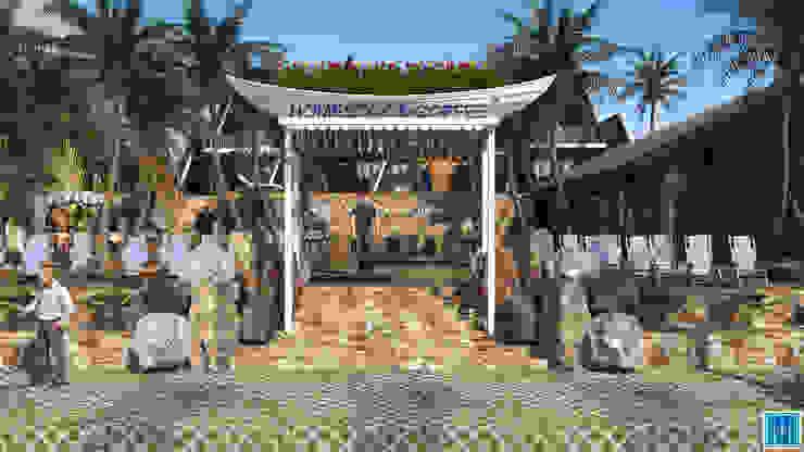 River Homestay and Coffee Nhà phong cách nhiệt đới bởi Mét Vuông Nhiệt đới