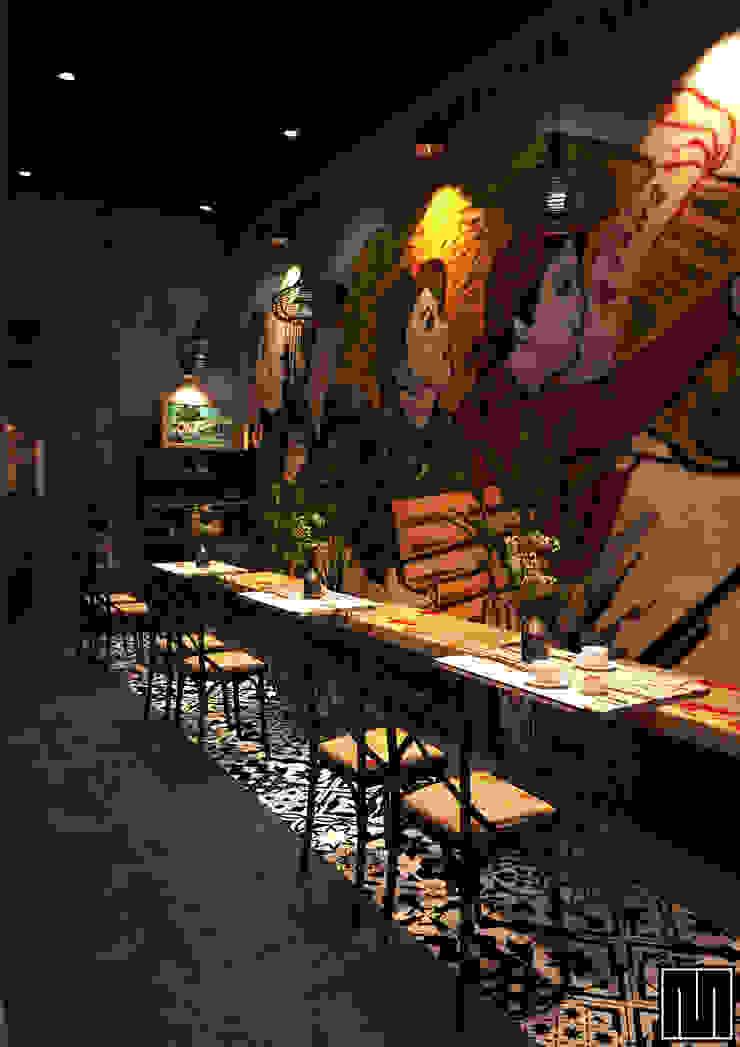 Bao Cấp Coffee Nhà phong cách mộc mạc bởi Mét Vuông Mộc mạc