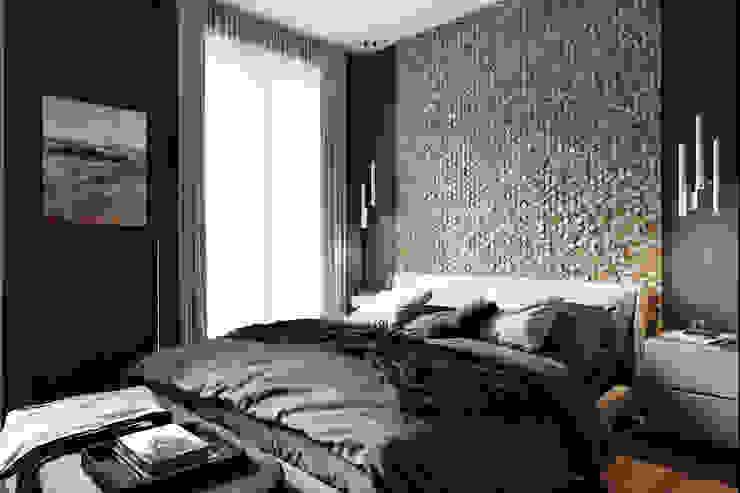 Chambre minimaliste par Студия архитектуры и дизайна Дарьи Ельниковой Minimaliste