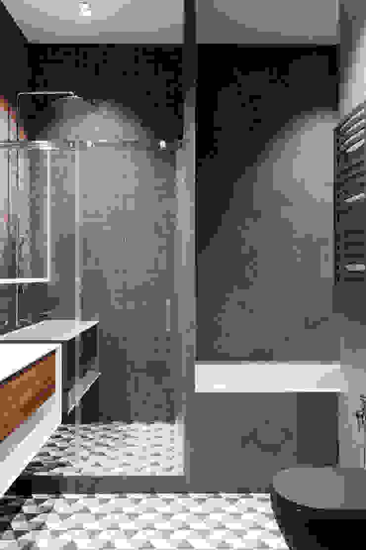 Salle de bain minimaliste par Студия архитектуры и дизайна Дарьи Ельниковой Minimaliste