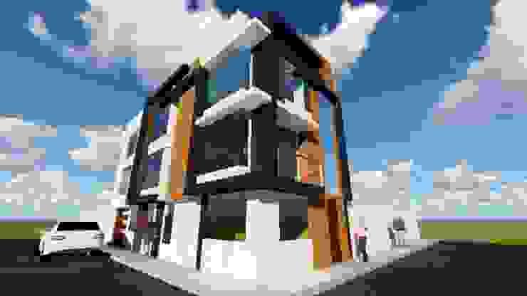 VIVIENDA MULTIFAMILIAR de HyS Arquitectos Moderno Granito