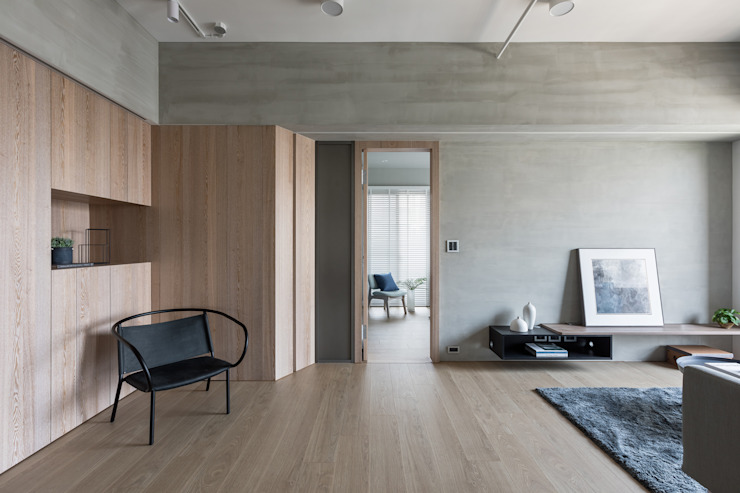 H° 斯堪的納維亞風格的走廊,走廊和樓梯 根據 寓子設計 北歐風