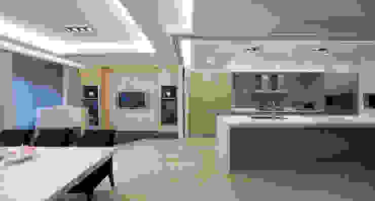 高監周公館 现代客厅設計點子、靈感 & 圖片 根據 雅群空間設計 現代風