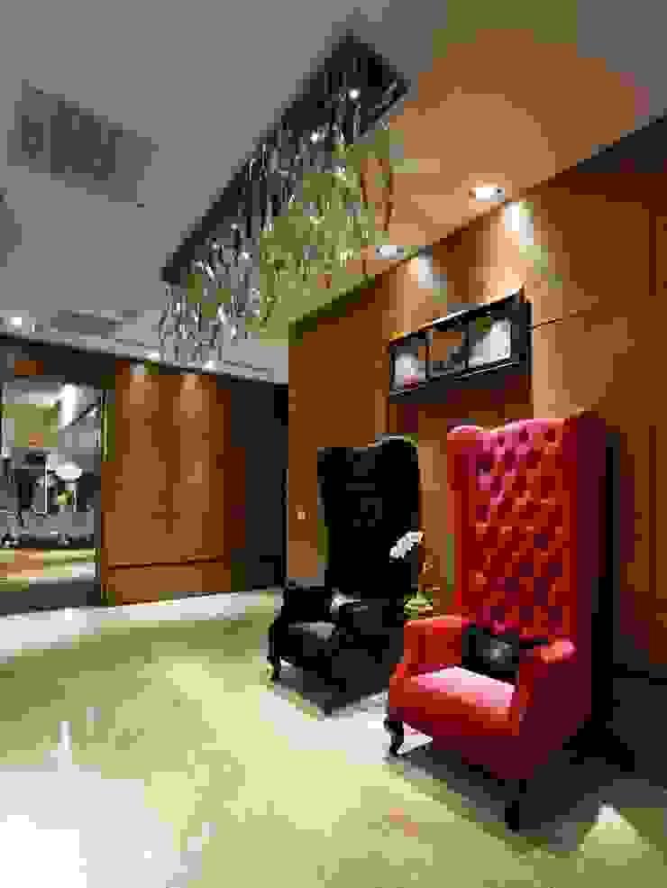 願景軒 亞洲風玄關、階梯與走廊 根據 雅群空間設計 日式風、東方風