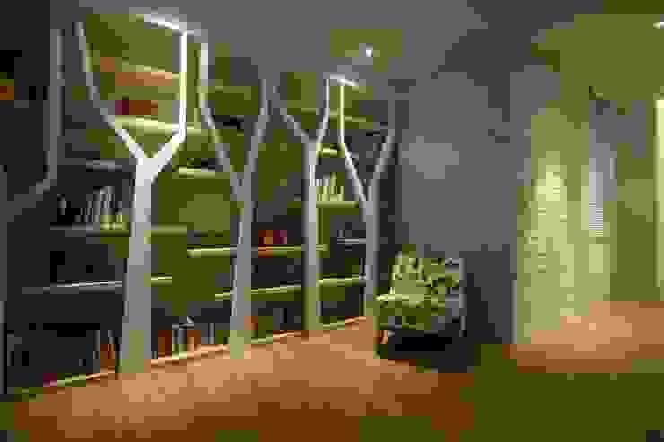 Paredes y pisos de estilo asiático de 雅群空間設計 Asiático
