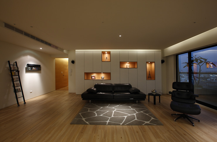 Salon asiatique par 雅群空間設計 Asiatique