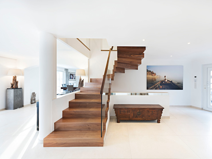 Zig-Zag Turn Siller Treppen/Stairs/Scale Stairs Wood Brown