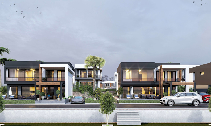 Deniz Kent Villaları Modern Evler ANTE MİMARLIK Modern