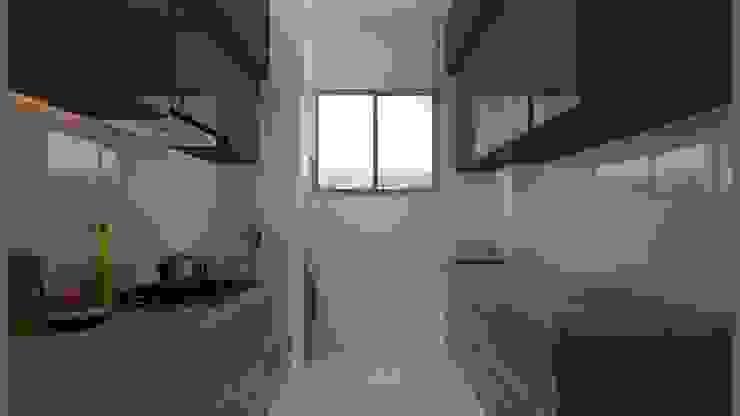 2bhk Residence with a Pragmatic Taste, Mumbai:  Kitchen by Sagar Shah Architects,