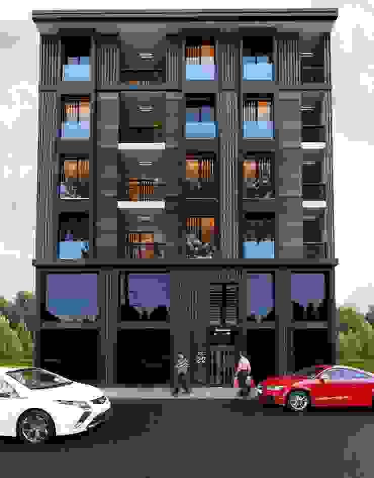 Bina Cephe Tasarımı DETAY MİMARLIK MÜHENDİSLİK İÇ MİMARLIK İNŞAAT TAAH. SAN. ve TİC. LTD. ŞTİ. Modern