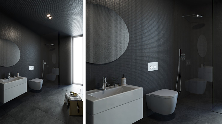 Minimalist style bathroom by FMO ARCHITECTURE Minimalist Ceramic