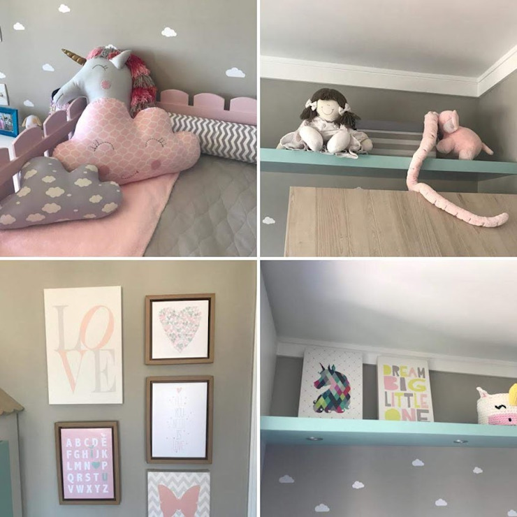 Detalhes de um quarto de menina por BG arquitetura | Projetos Comerciais Moderno