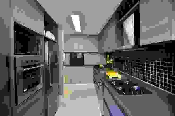 Harmonia nas diferentes texturas das paredes por BG arquitetura   Projetos Comerciais Moderno
