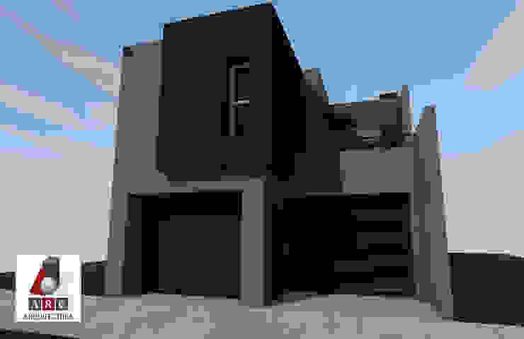 Fachada proyecto ARC ARQUITECTURA Casas minimalistas Concreto reforzado Multicolor