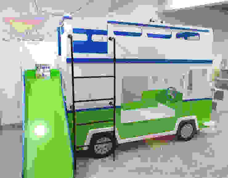Divertida litera de Camión de Kids Wolrd- Recamaras Literas y Muebles para niños Clásico Derivados de madera Transparente